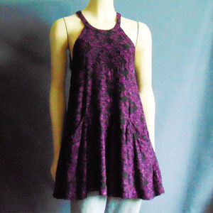 Free People Purple Racerback Burnout Dress S